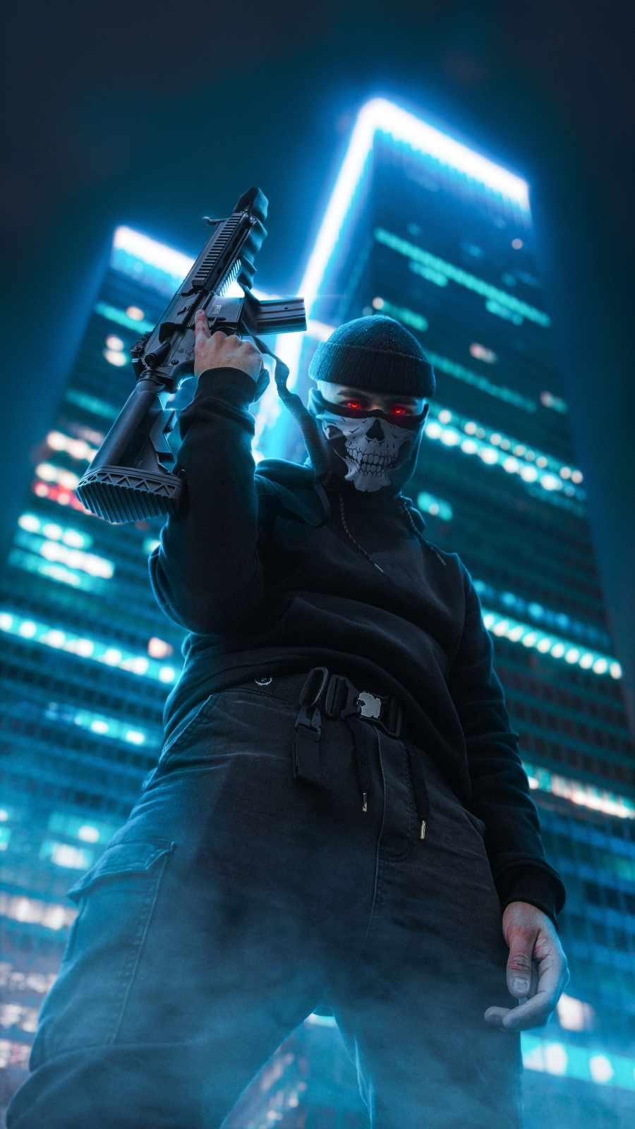 Masked Guy with Gun