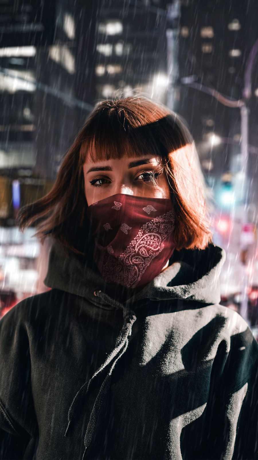 Masked Urban Brunette