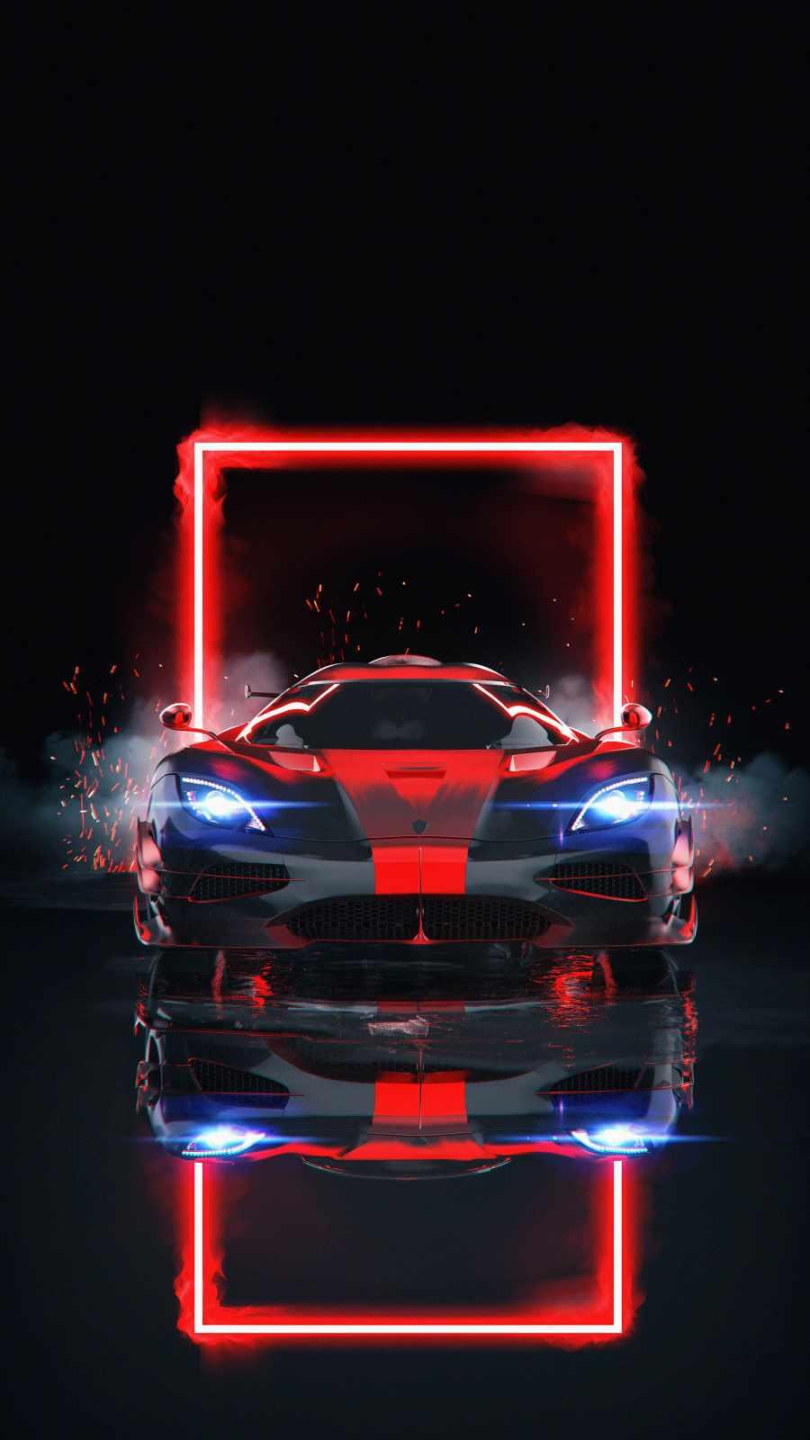 McLaren Neon iPhone Wallpaper