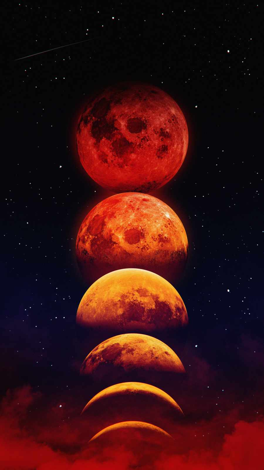 Moon Phases iPhone Wallpaper