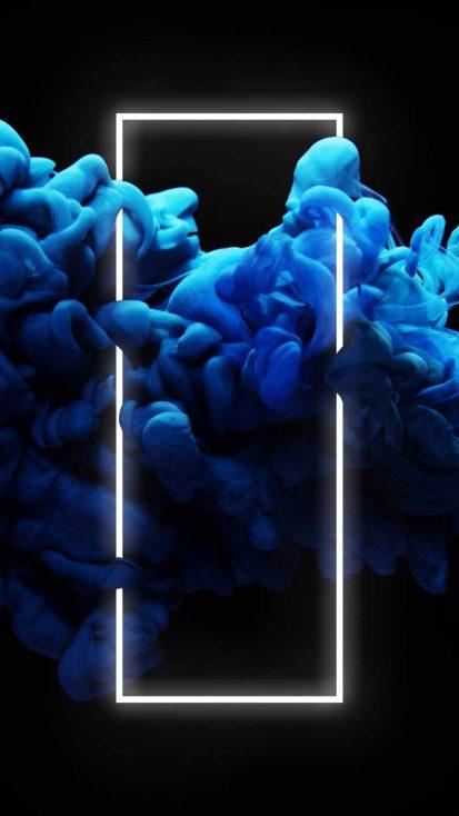 Neon Blue Smoke