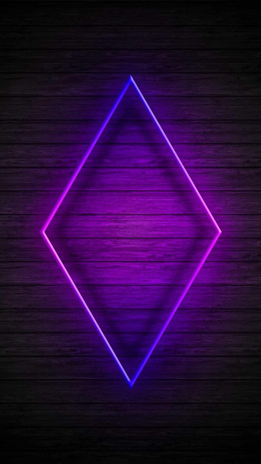 Neon Rhombus Wood