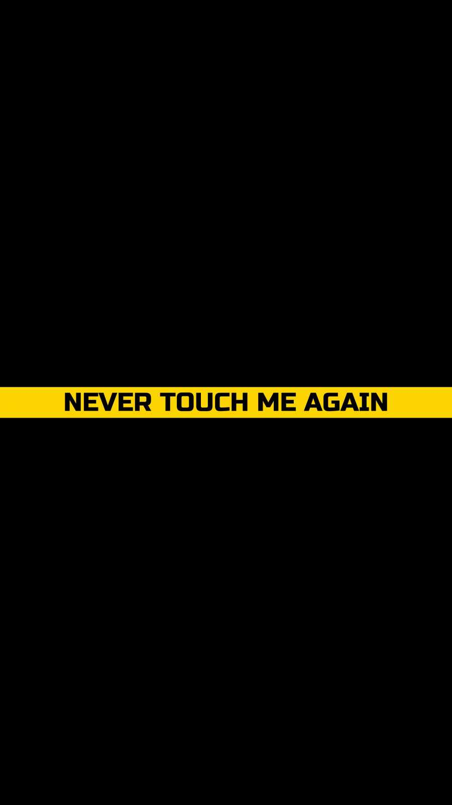 Never Touch me Again