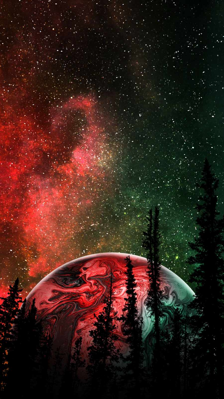 Outer Space Alien Planet