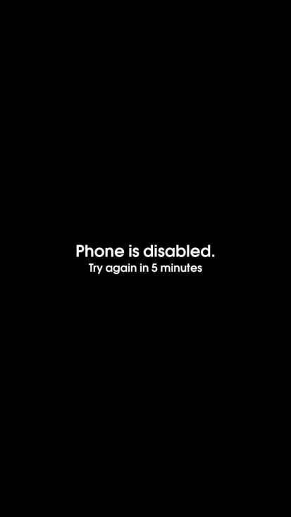 Phone is Disabled