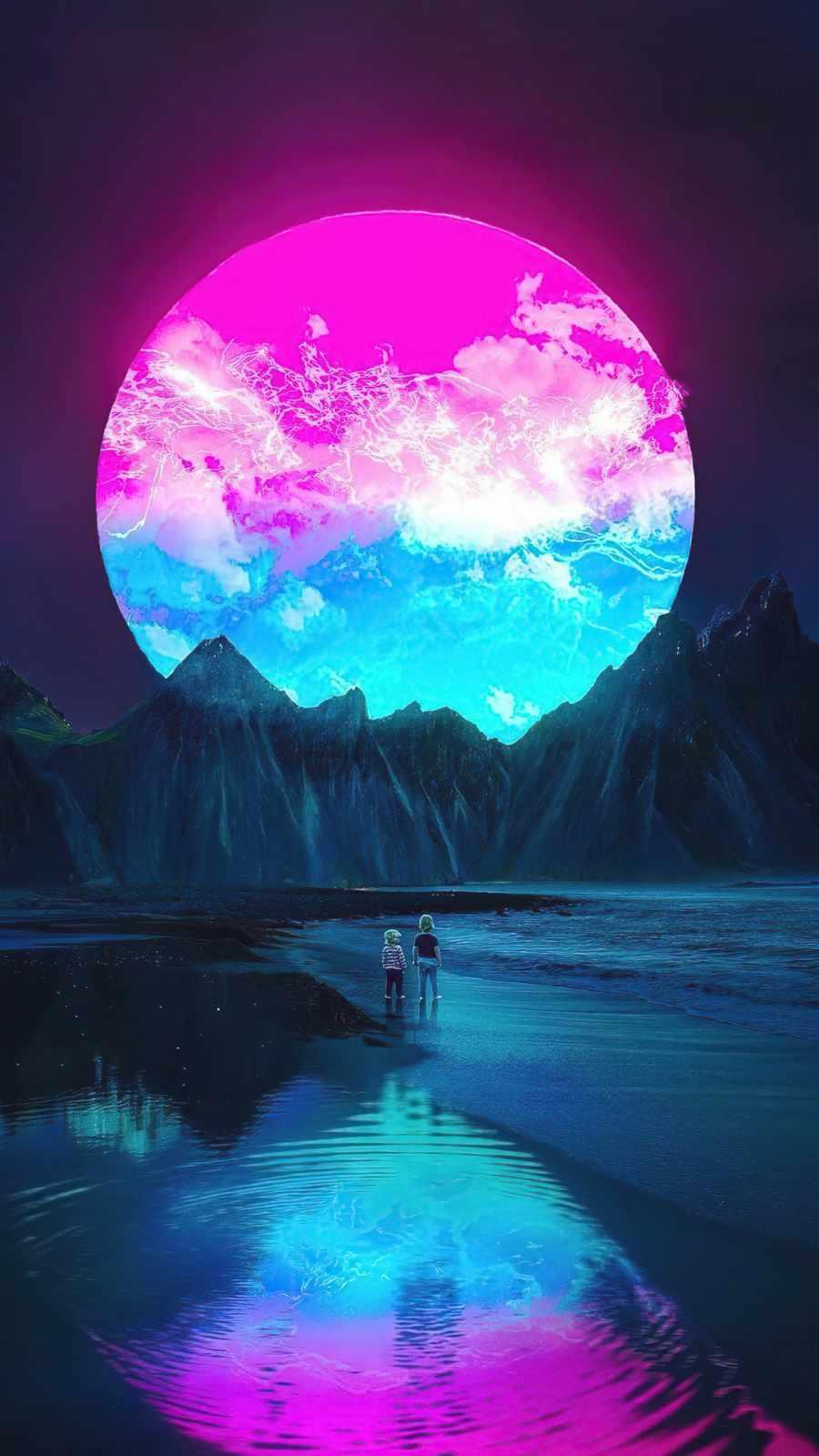 Purple Supernova iPhone Wallpaper