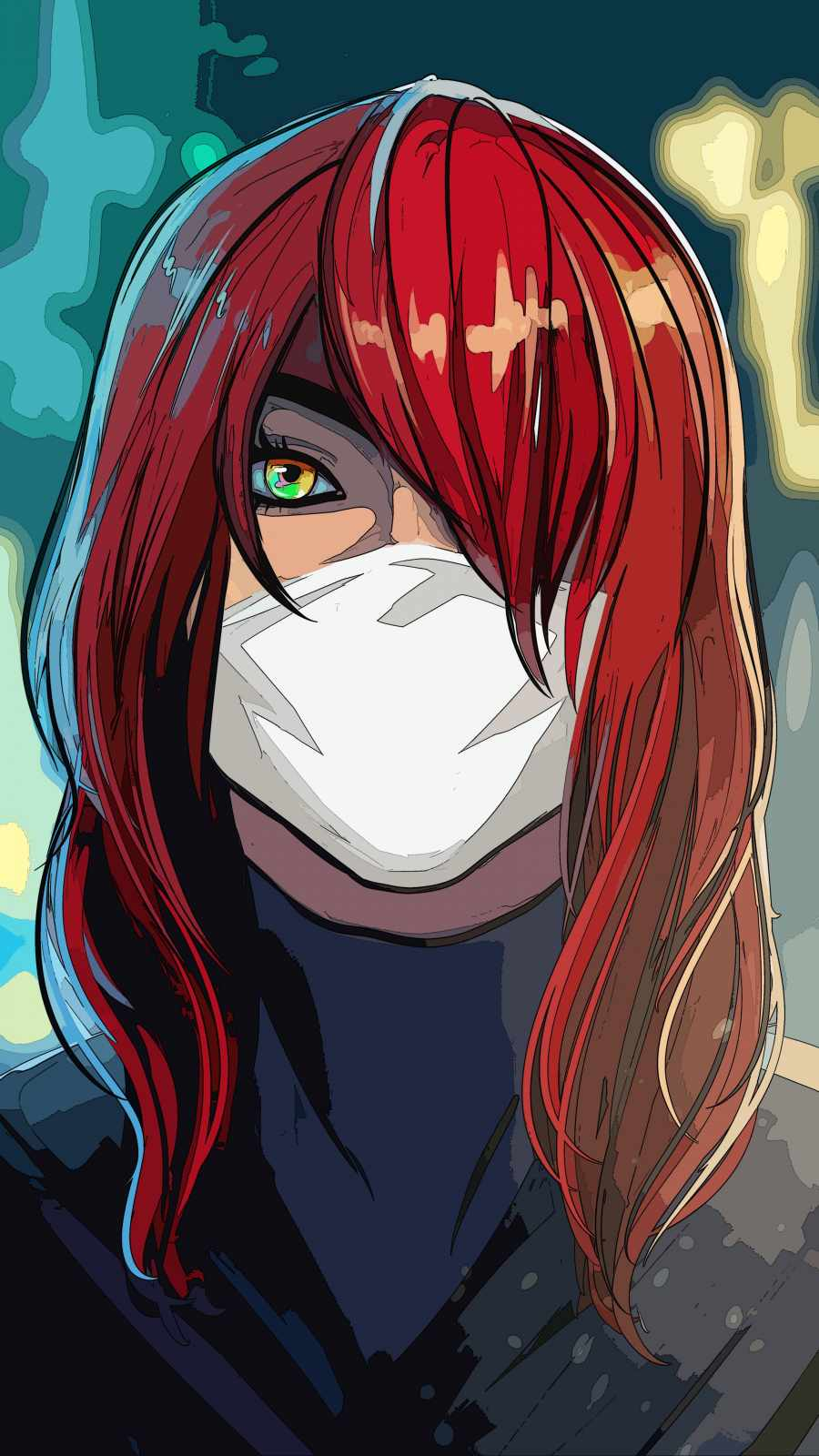 Red Hairs Anime iPhone Wallpaper