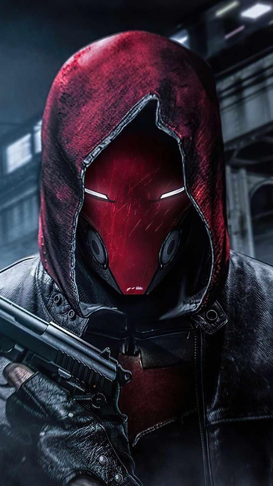 Red Hood with Gun iPhone Wallpaper