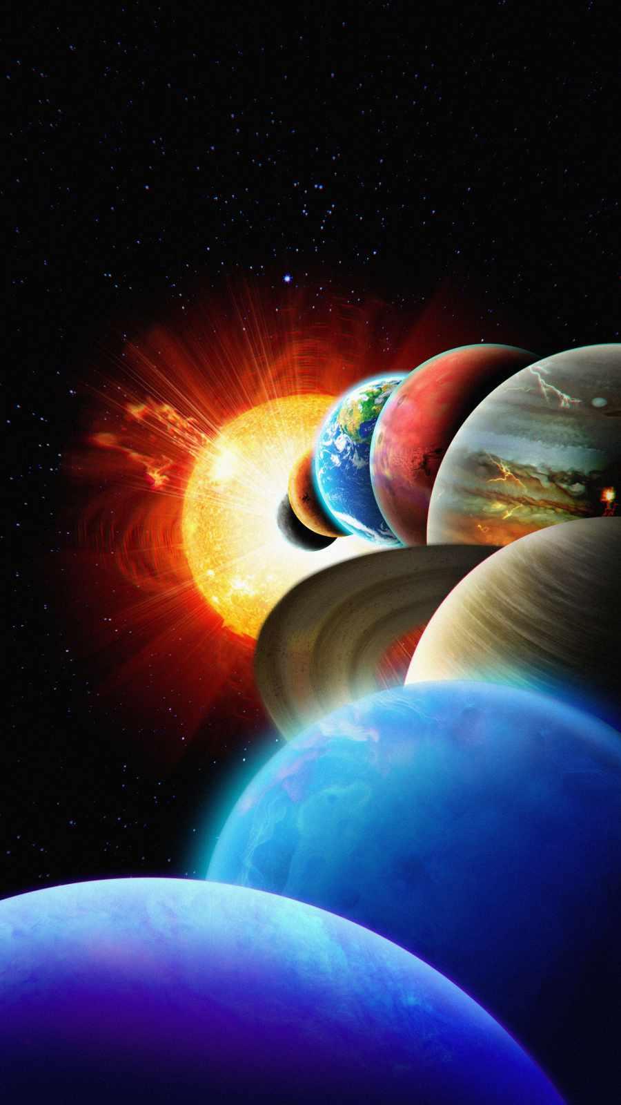 Solar System iPhone Wallpaper
