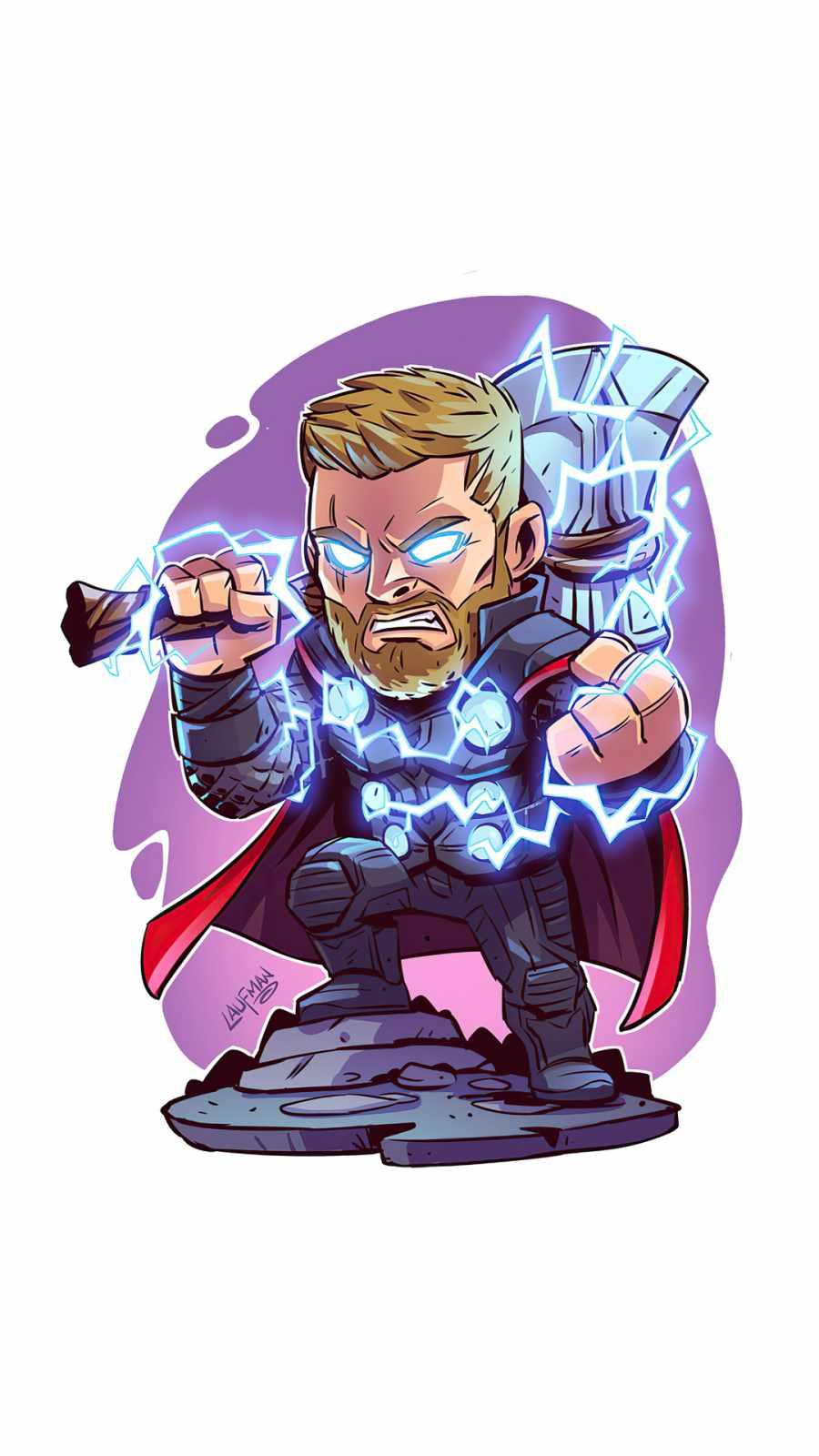 Thor with Hammer Minimal