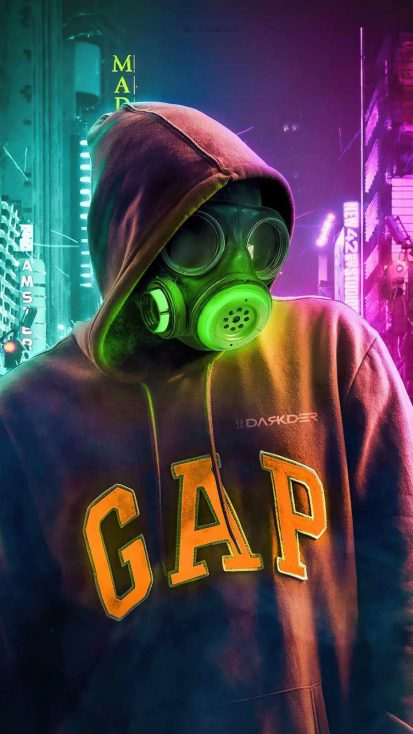 Toxic Mask Hoodie Guy iPhone Wallpaper