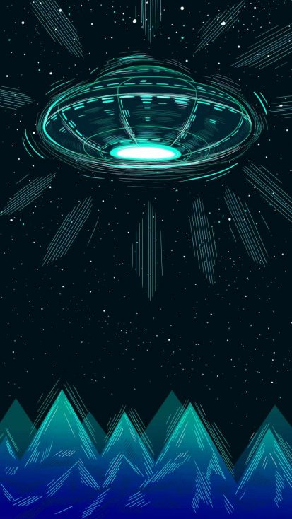 UFO Ship iPhone Wallpaper