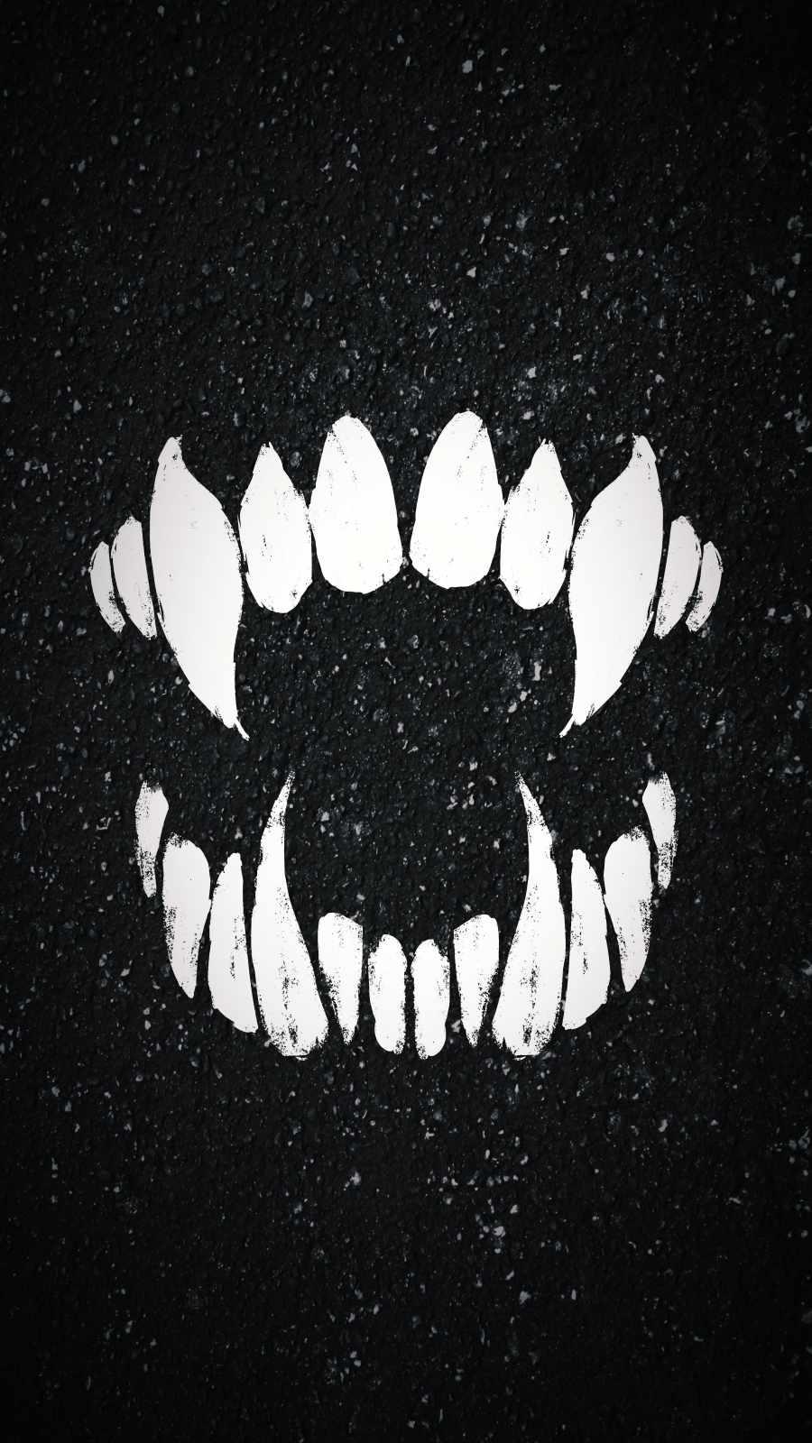 Vampire Tooth iPhone Wallpaper