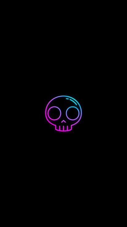 Amoled Skull iPhone Wallpaper