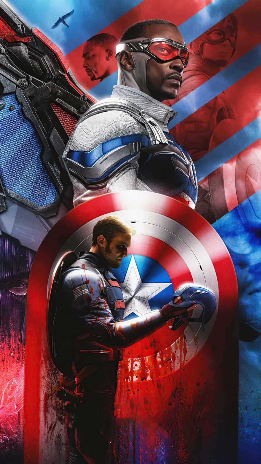 Anthony Mackie Falcon and the Winter Soldier