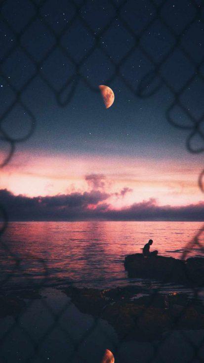 Beach Sunset Vibes iPhone Wallpaper