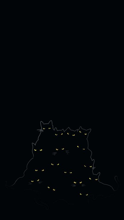 Black Cats iPhone Wallpaper