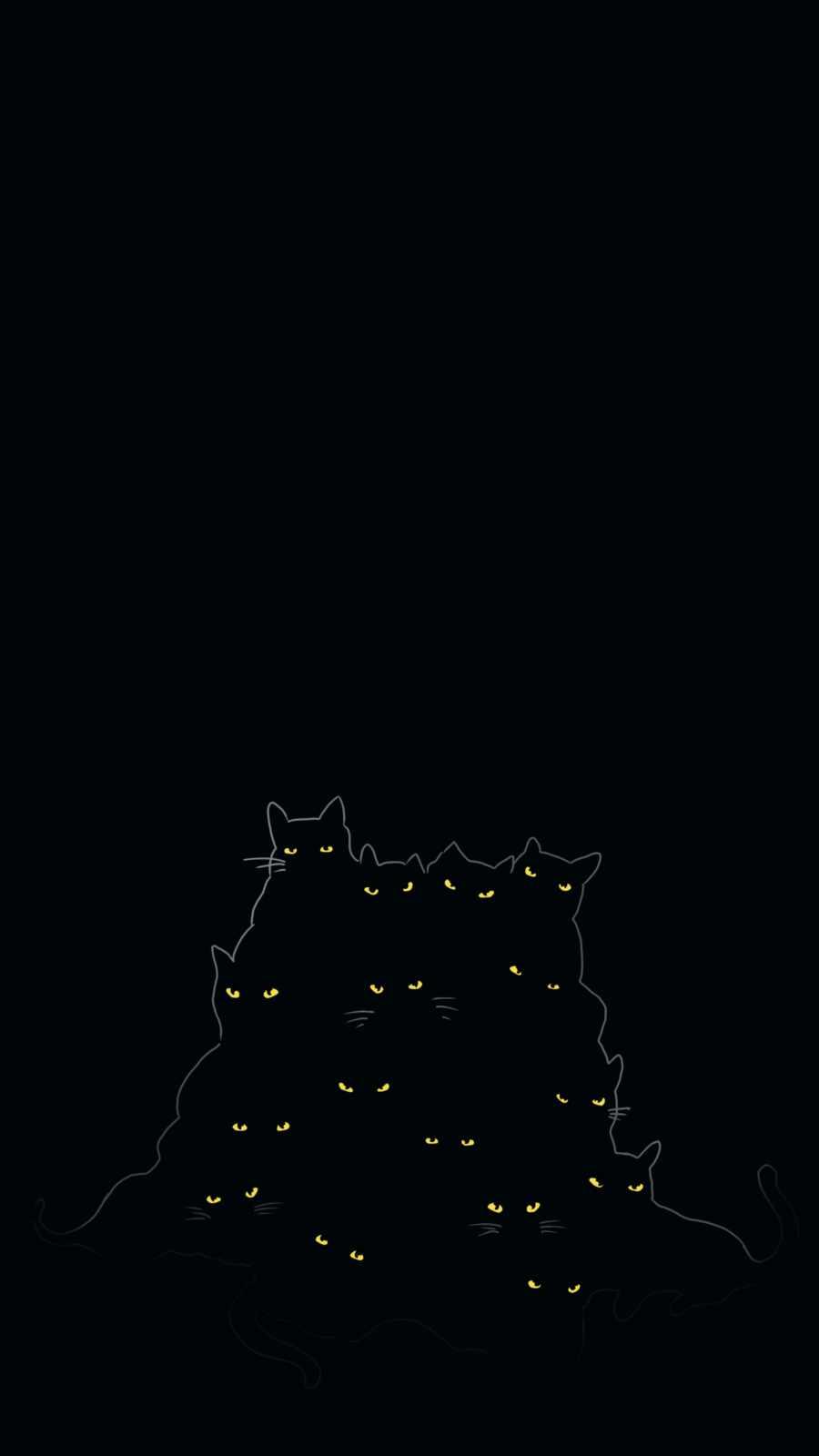 Black Cats iPhone Wallpaper