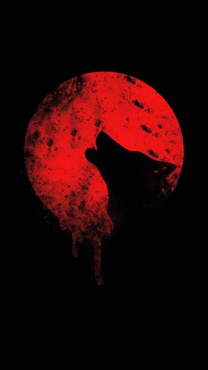 Blood Wolf iPhone Wallpaper