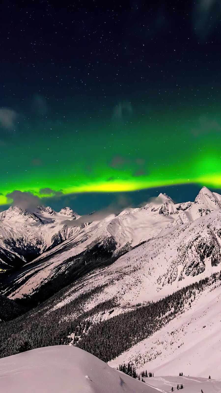 British Columbia Aurora iPhone Wallpaper