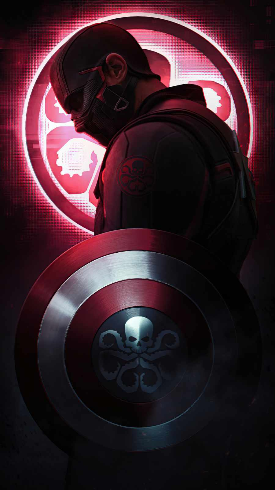 Captain Hydra iPhone Wallpaper