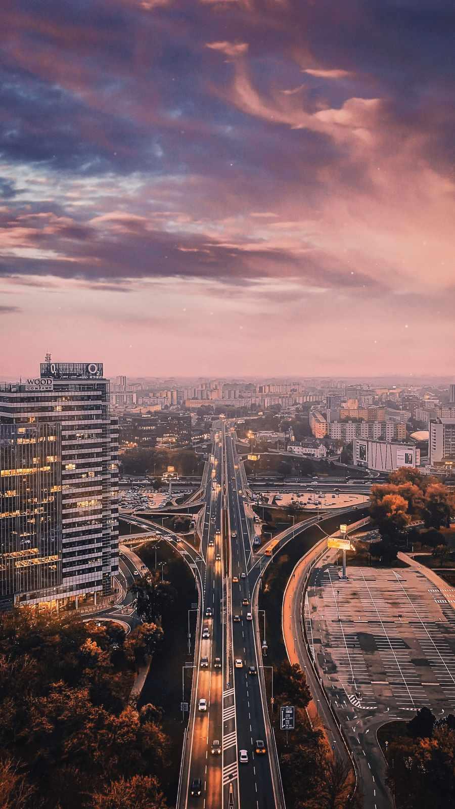 City Sunset iPhone Wallpaper