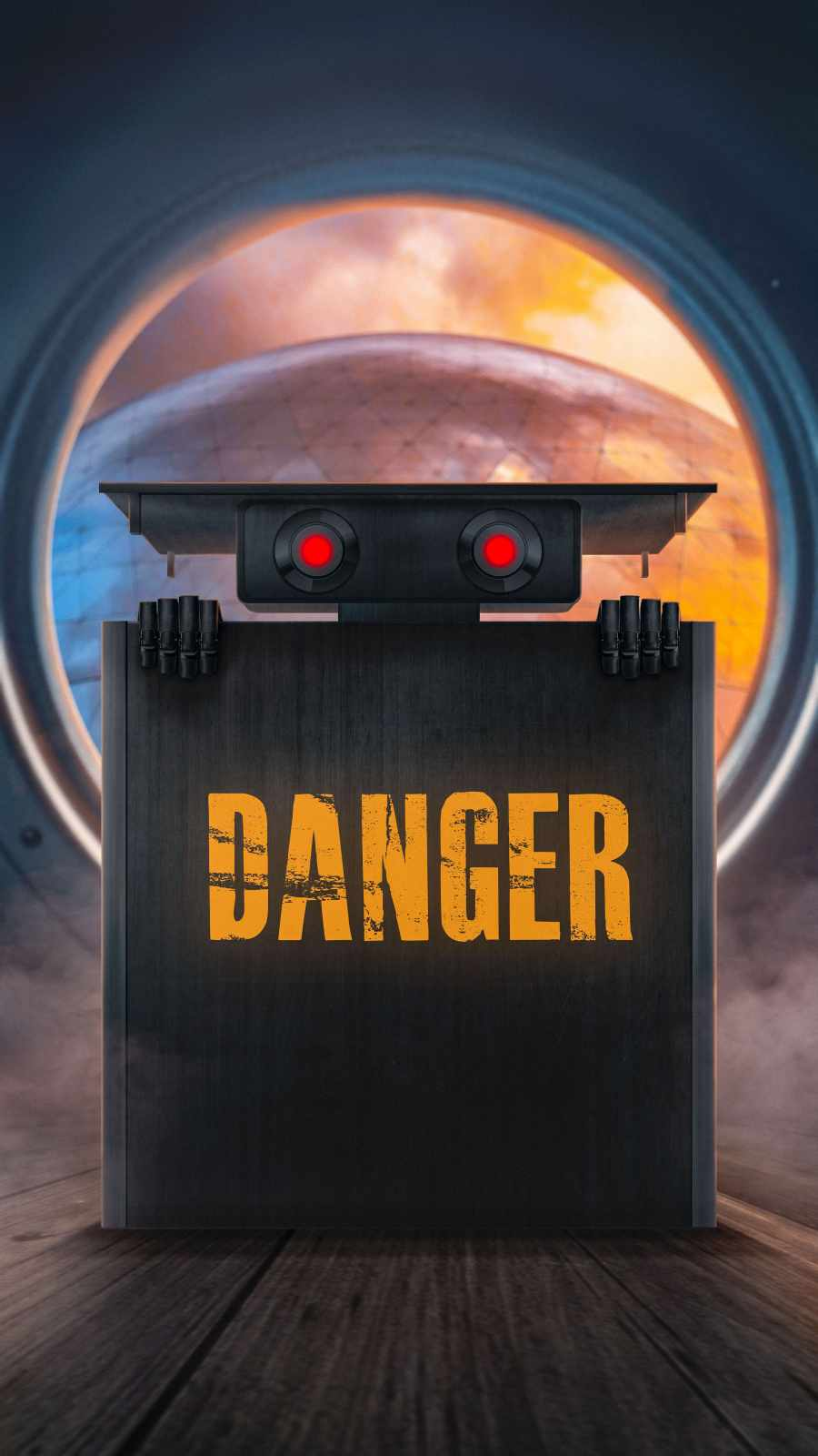 Danger Robot iPhone Wallpaper