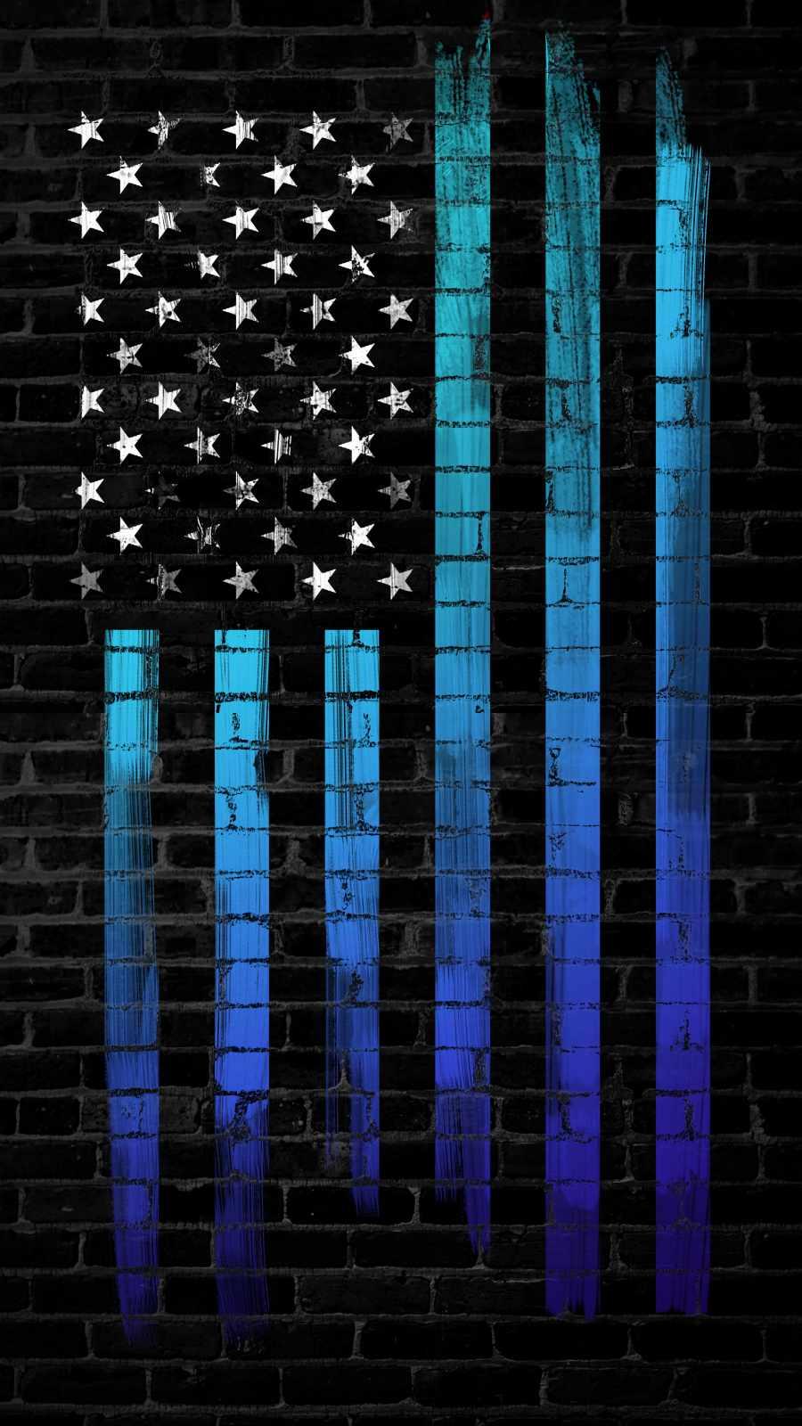 Dark Wall American Flag