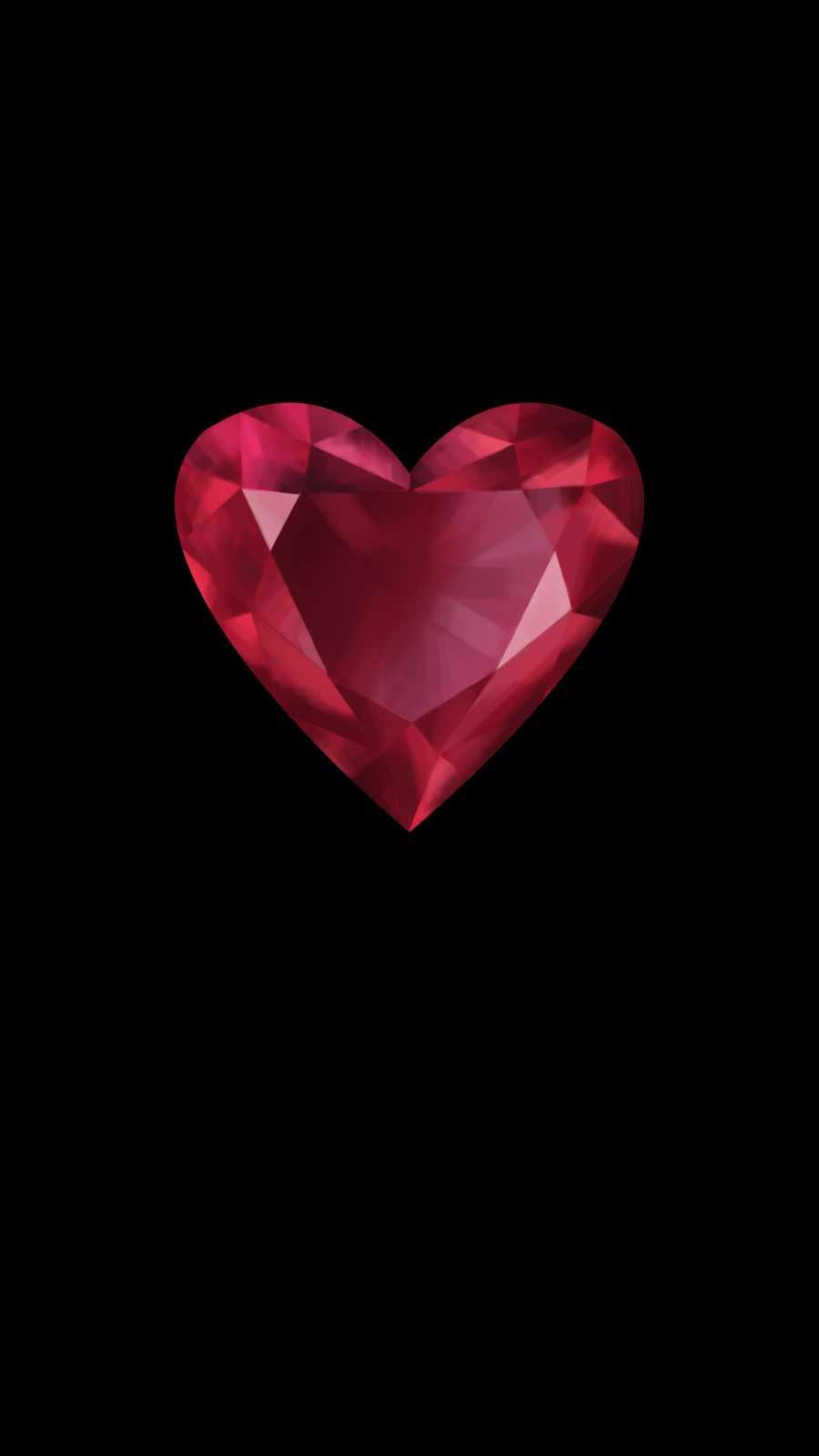 Diamond Heart iPhone Wallpaper