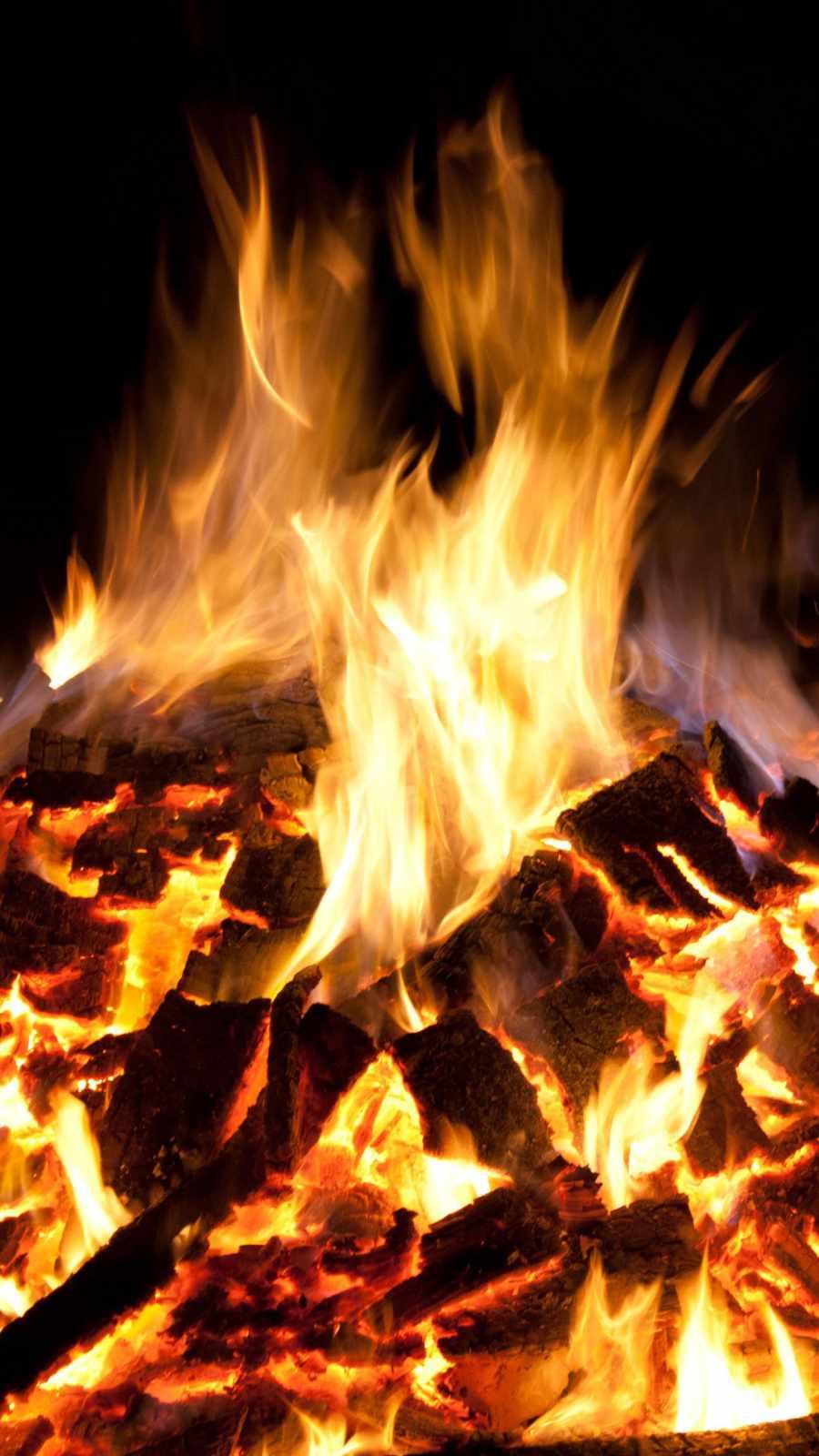 Fire Burning iPhone Wallpaper