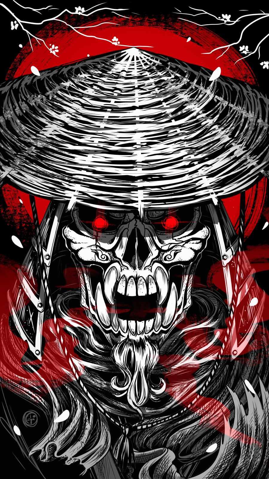 Ghost Samurai iPhone Wallpaper