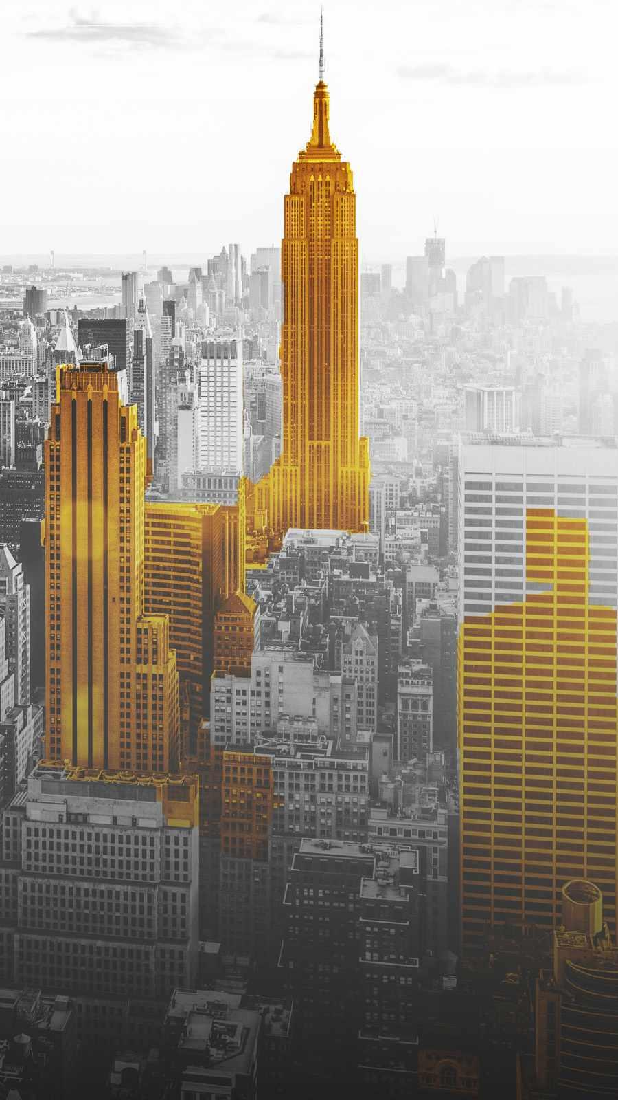 Golden New York iPhone Wallpaper