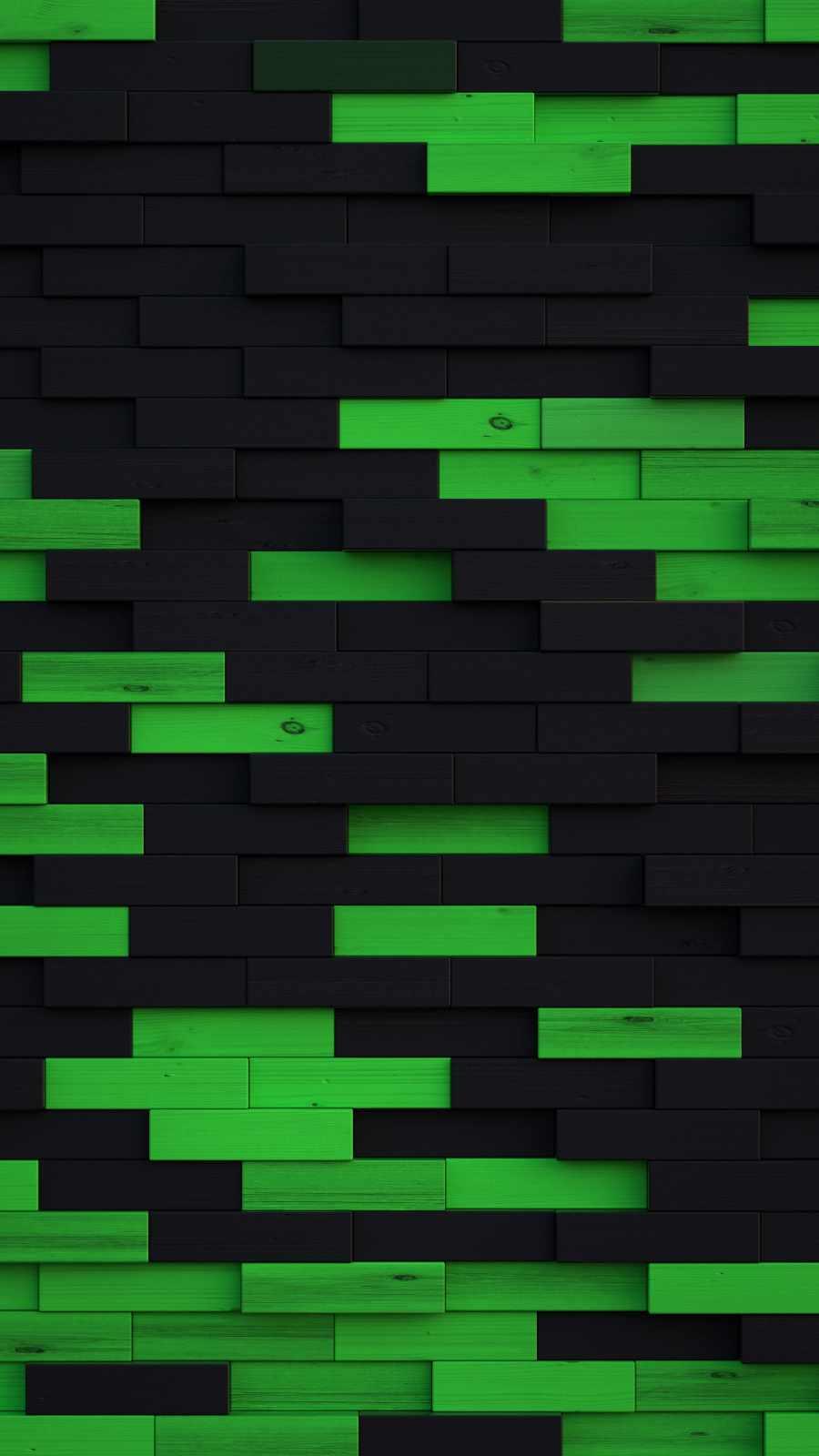 Green Blocks Wooden