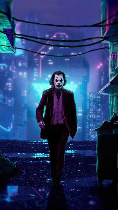 Joker x Cyberpunk iPhone Wallpaper