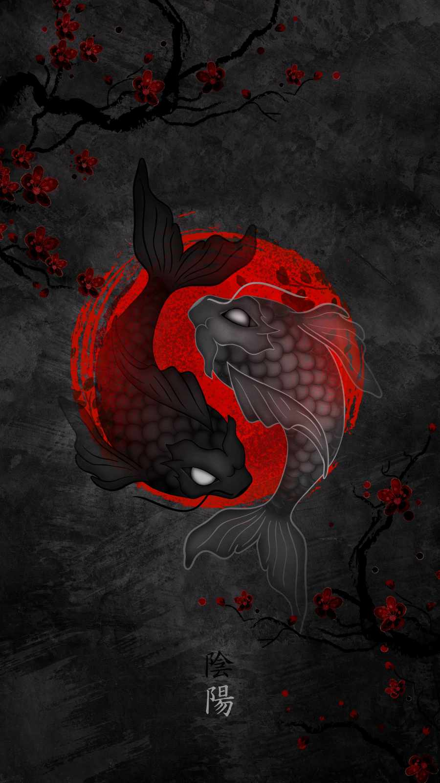 Koi Fish Japan iPhone Wallpaper