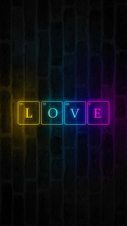 LOVE Code iPhone Wallpaper