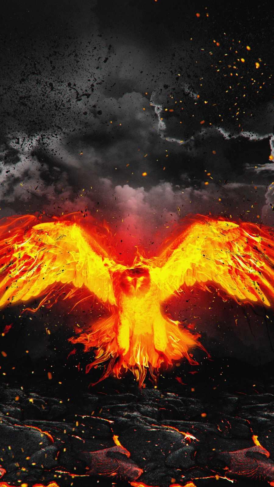 Lava Eagle iPhone Wallpaper