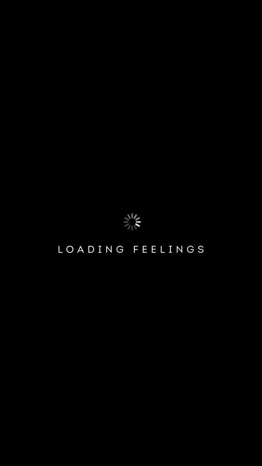 Loading Feelings iPhone Wallpaper
