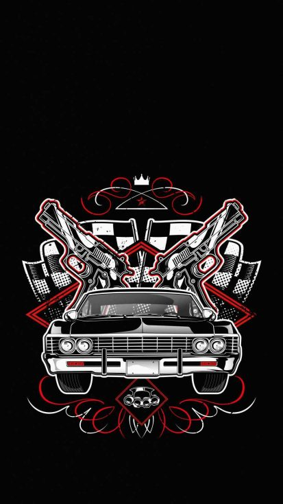 Lowrider Gangster iPhone Wallpaper