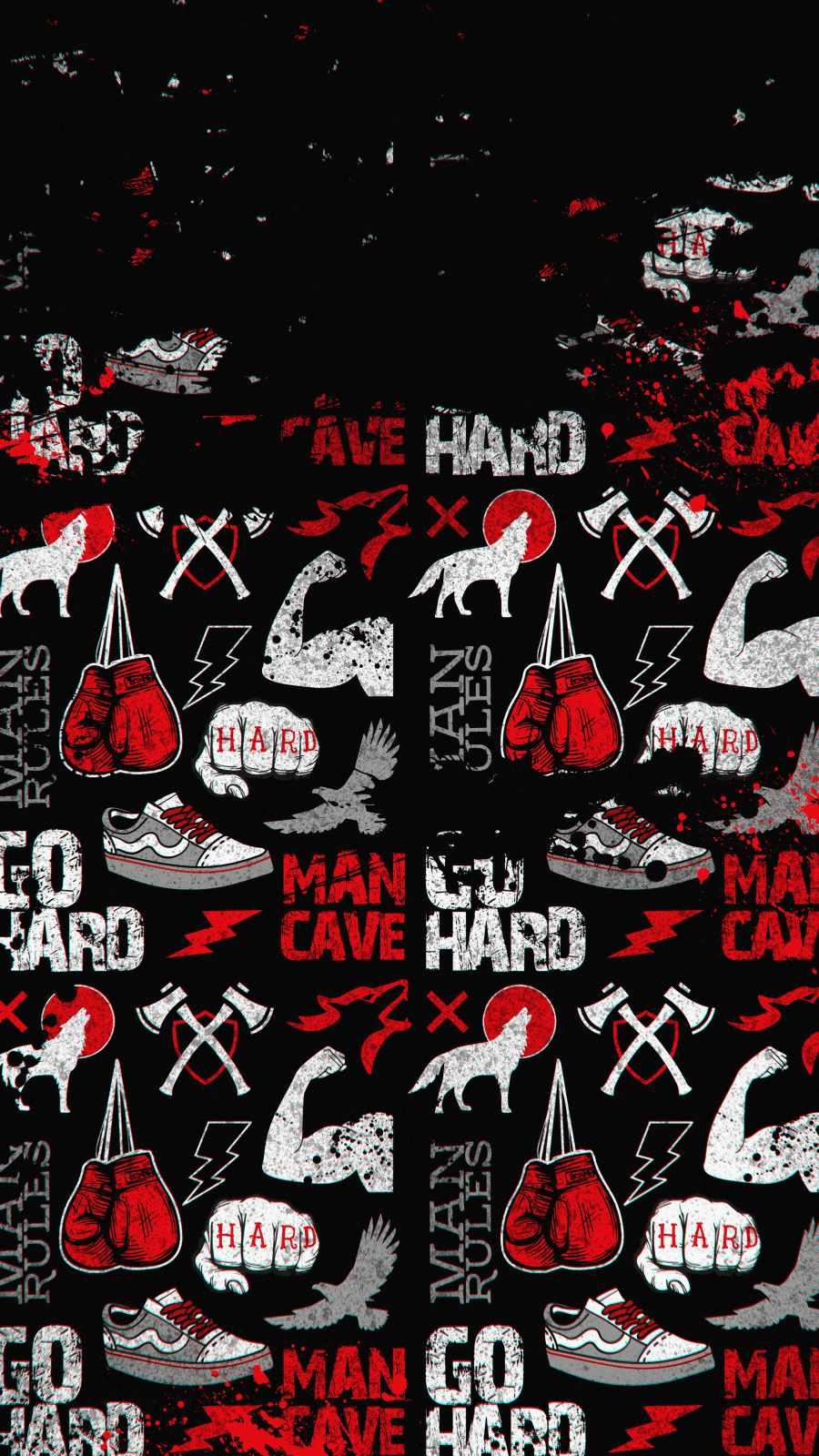 Man Cave iPhone Wallpaper