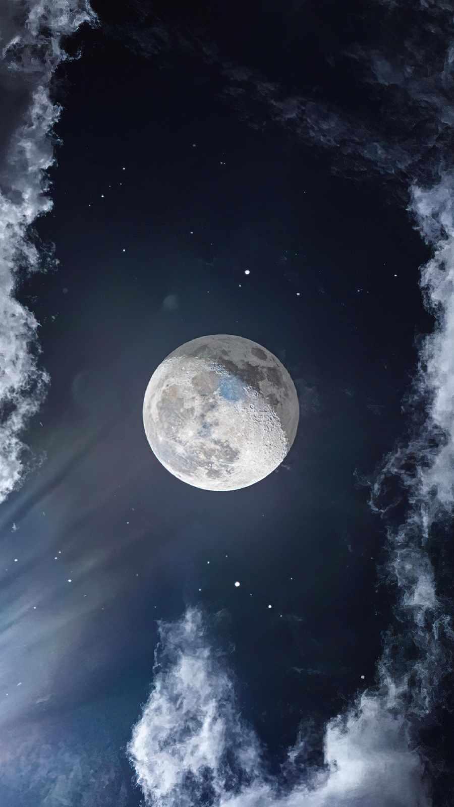 Moon Sky 4K iPhone Wallpaper