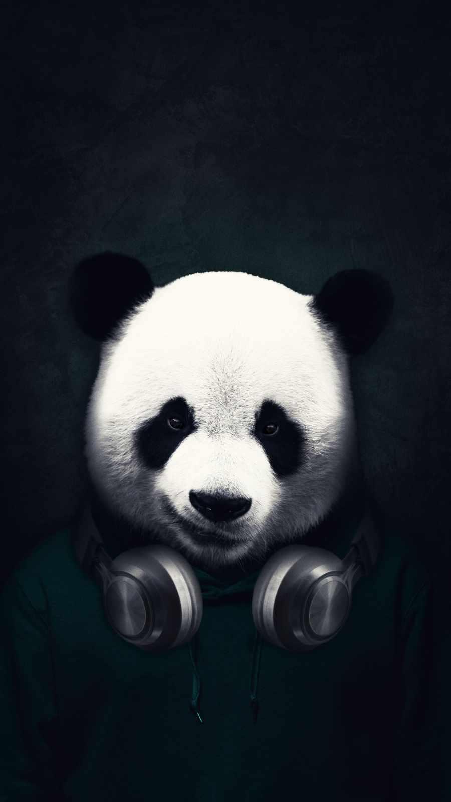 Music Panda iPhone Wallpaper