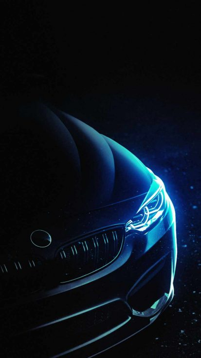 Neon BMW iPhone Wallpaper