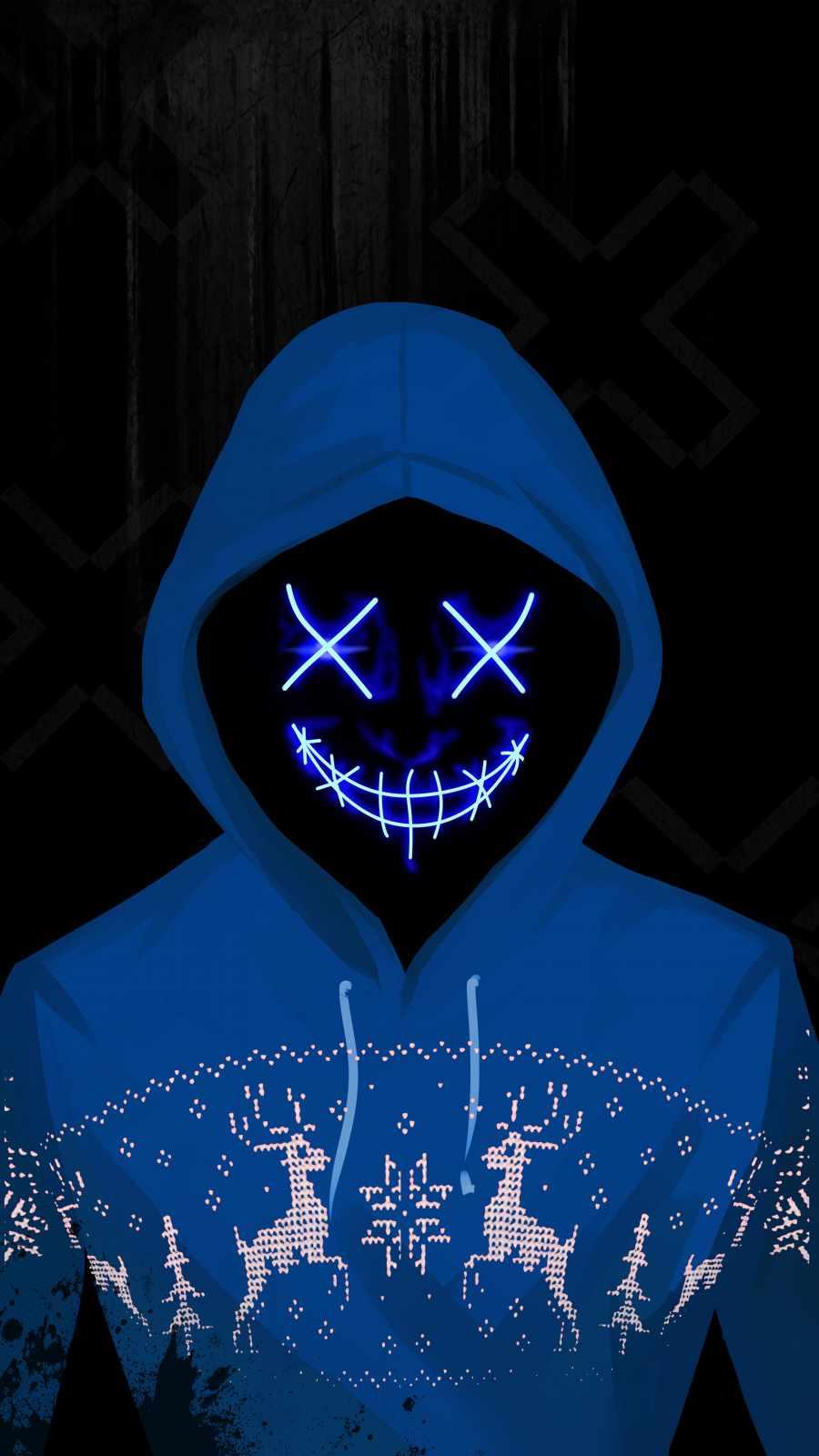 Neon Hoodie iPhone Wallpaper