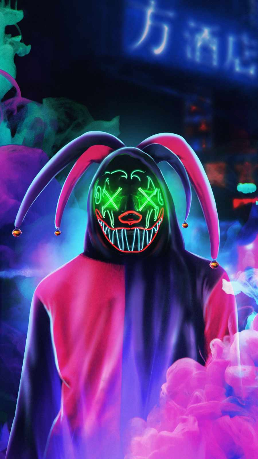 Neon Mask Clown