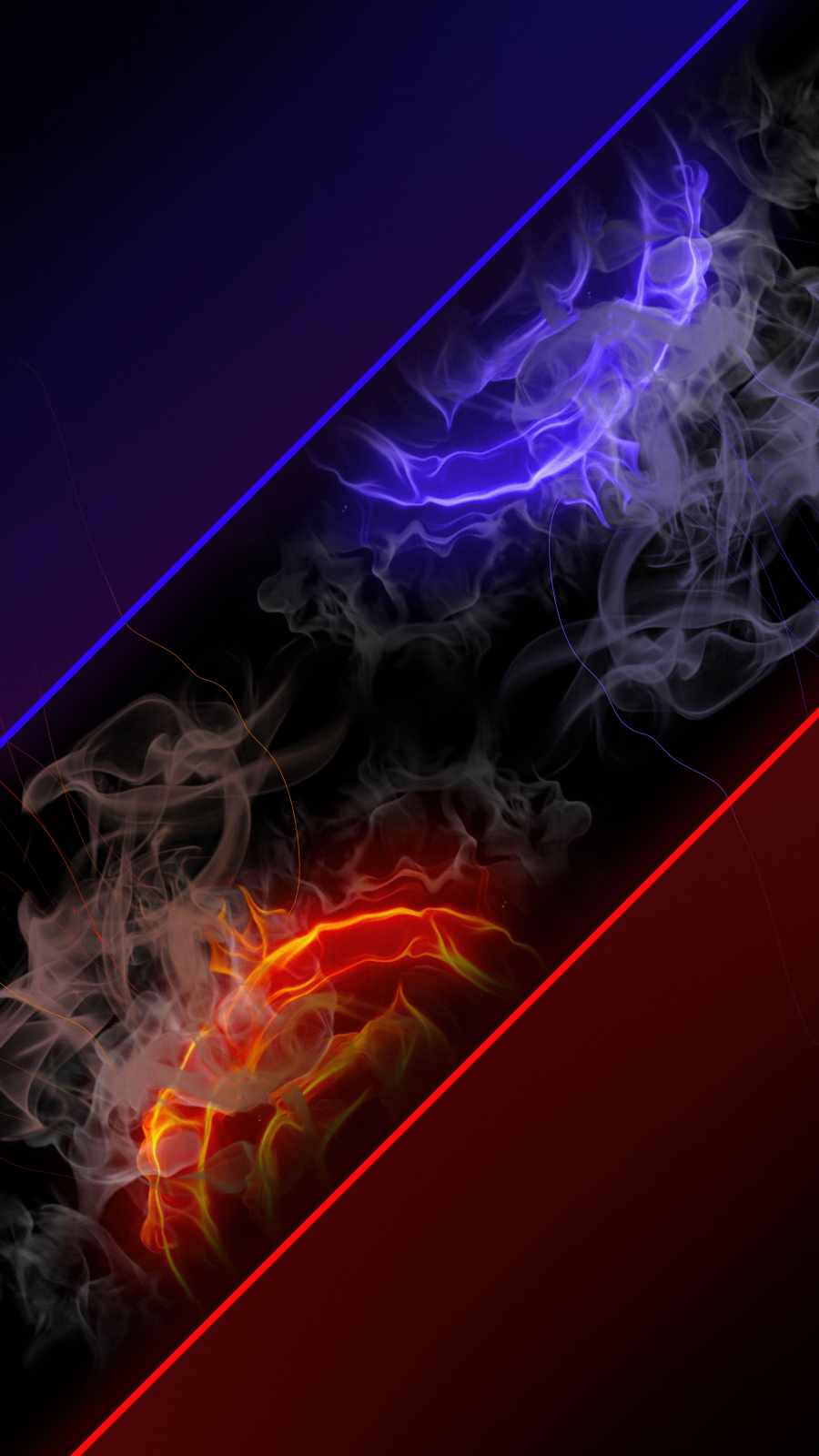 Neon Smoke iPhone Wallpaper