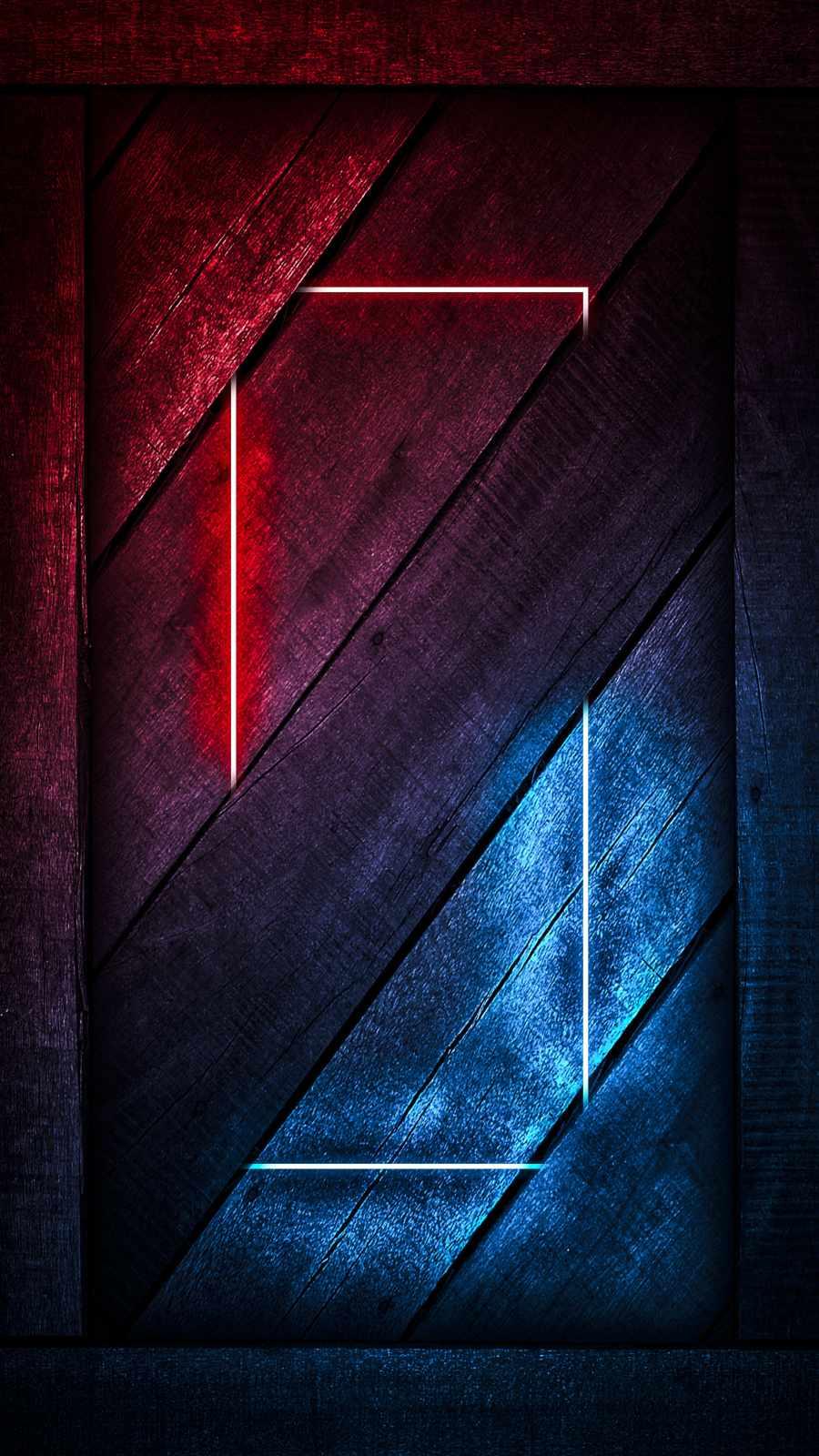 Neon Wood iPhone Wallpaper