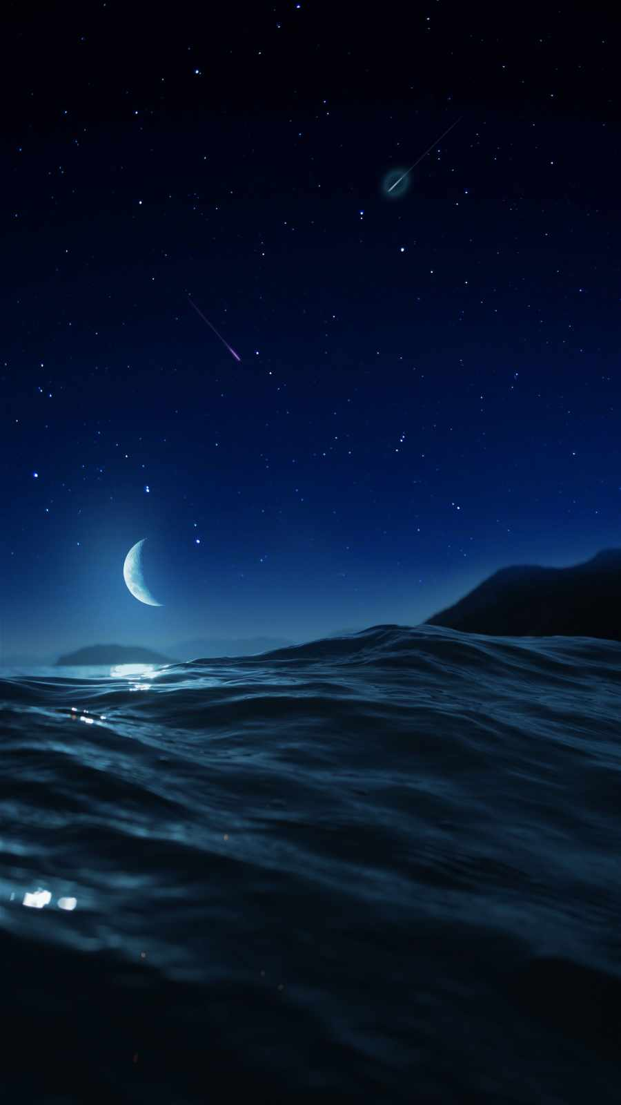 Ocean Night iPhone Wallpaper