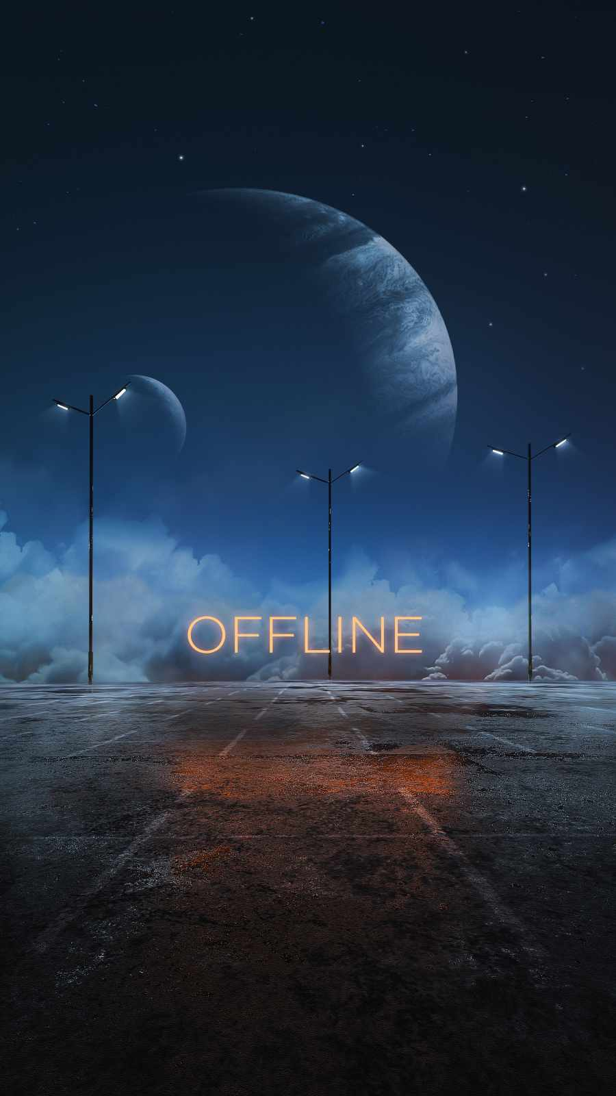 Offline Planet iPhone Wallpaper