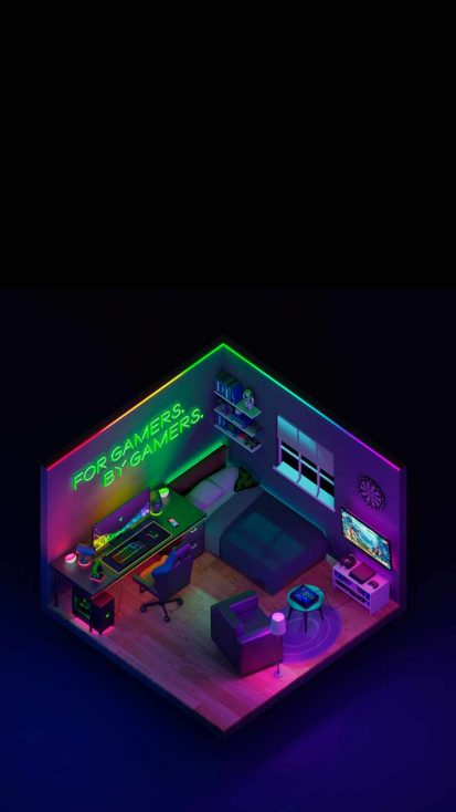 Razer Gaming Setup iPhone Wallpaper